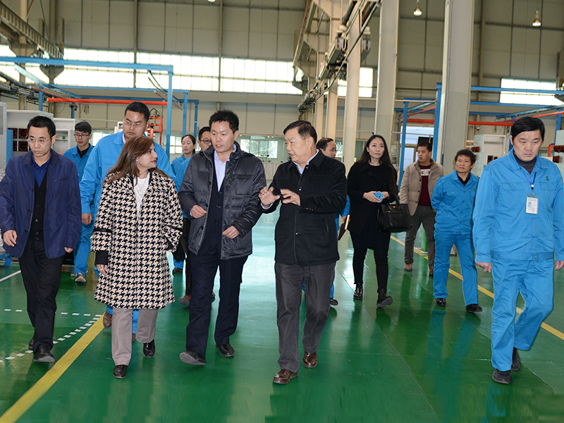 Dec. 16. 2015, Dr. Erfa Iqbal, the Business Counselor of Embassy of Pakistan in Beijing, Visited Senyuan.
