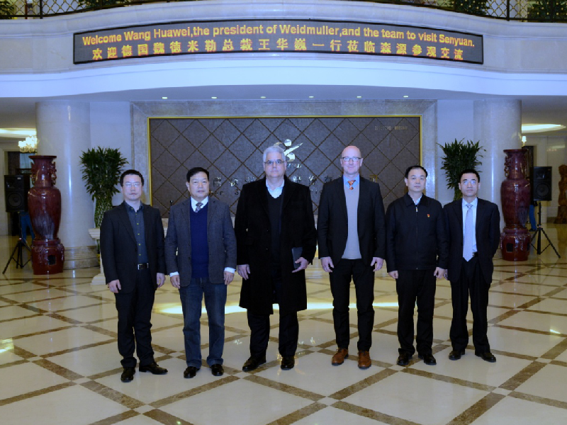 On January 10, 2017, Wang Huawei, the President of Weidmuller and the team visited Senyuan.